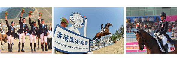 Hong Kong Equestrian Federation's banner